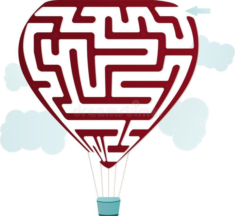Download Balonowy labirynt ilustracja wektor. Ilustracja złożonej z znalezisko - 28953702