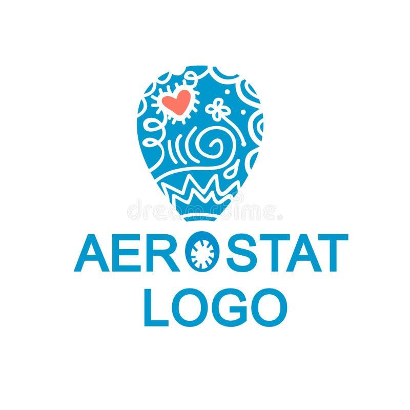 Balonowy logotyp zdjęcie stock