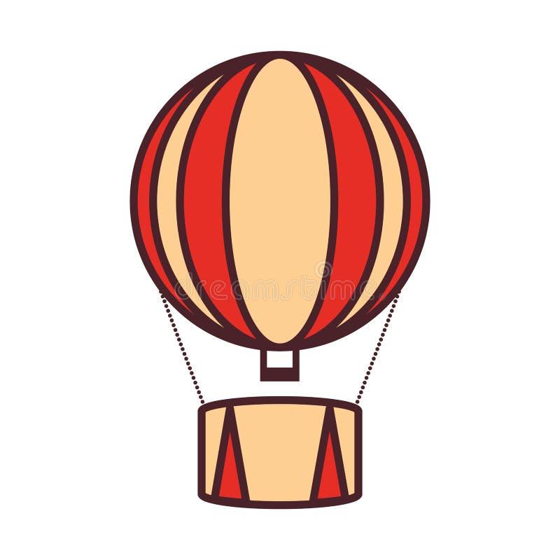 Balonowy lotniczy gorący latanie ilustracji