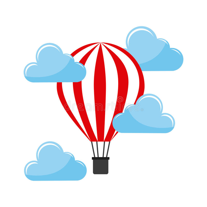 Balonowy lotniczy gorący royalty ilustracja