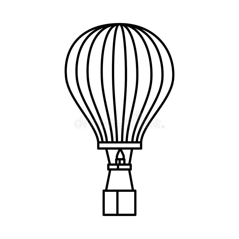 Balonowy lotniczy gorący latanie royalty ilustracja