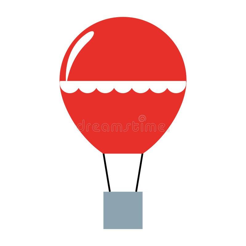 Balonowy lotniczy gor?cy latanie royalty ilustracja