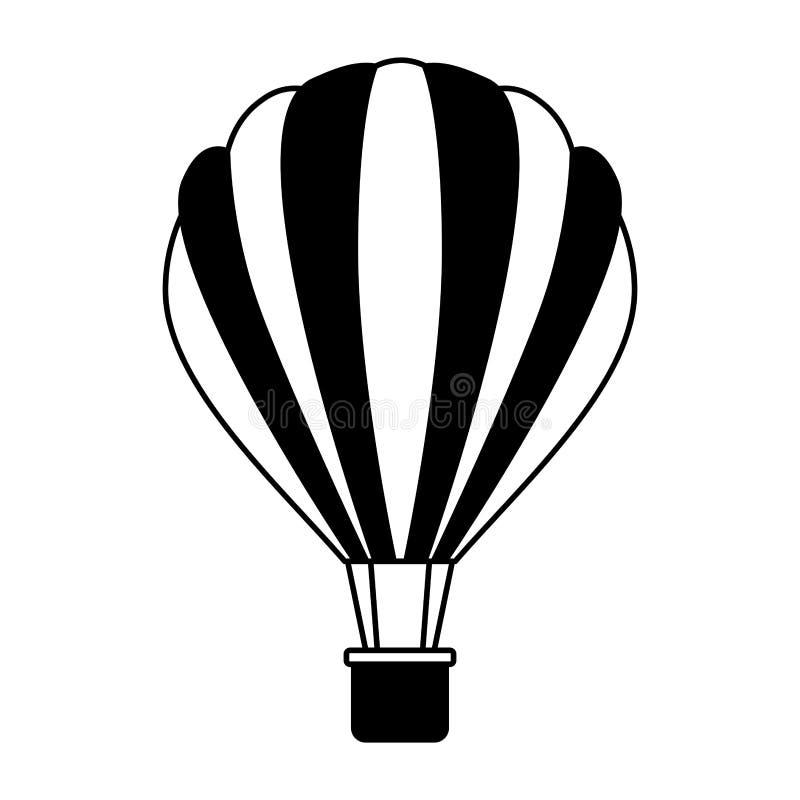Balonowy lotniczy gor?cy latanie ilustracji