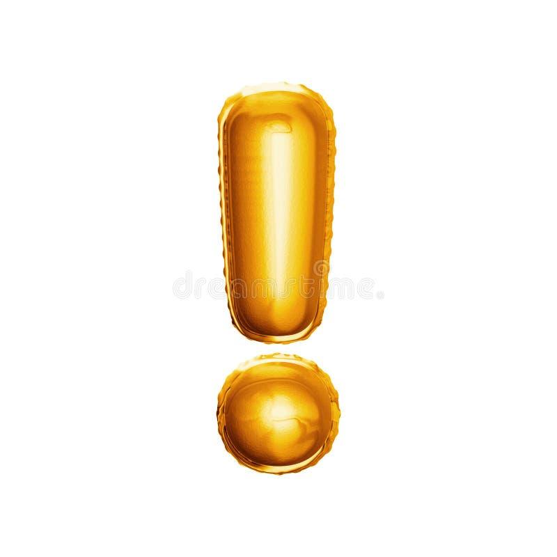 Balonowy okrzyk oceny 3D złoty foliowy realistyczny abecadło zdjęcia royalty free