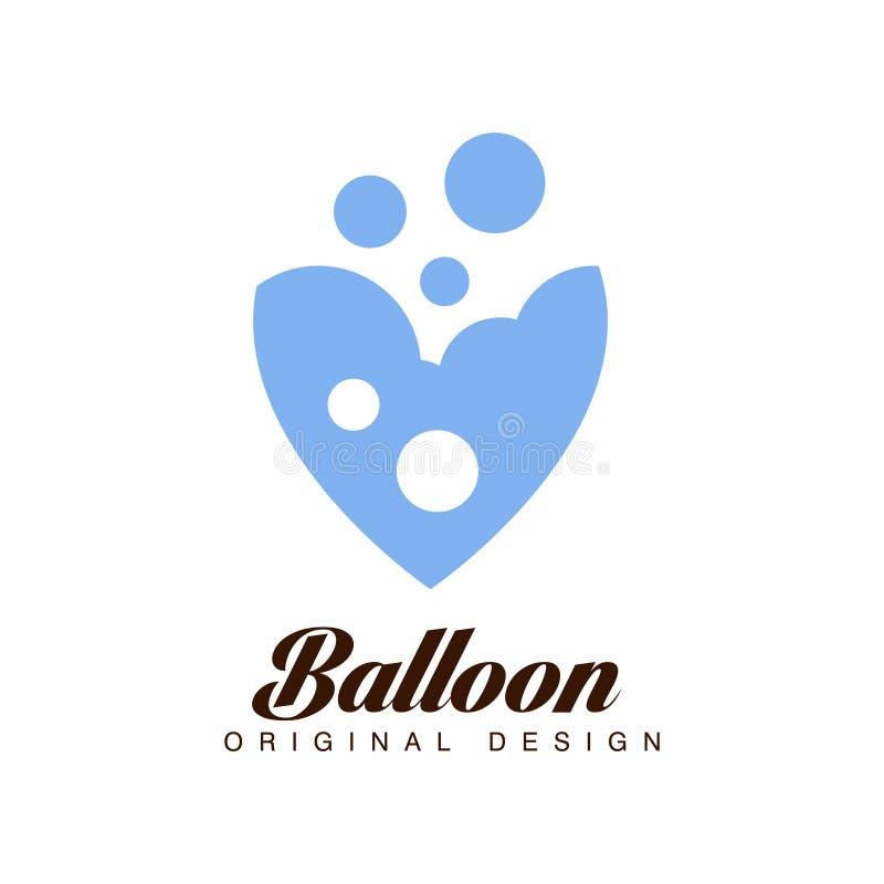 Balonowy oryginalny projekt, kreatywnie odznaka dla korporacyjnej gatunek tożsamości, wakacje letni, festiwal, podróż, turystyka  ilustracja wektor