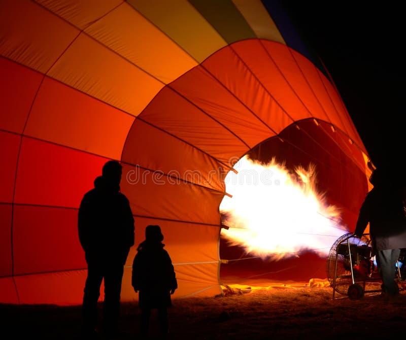 balonowy pompowanie zdjęcia stock