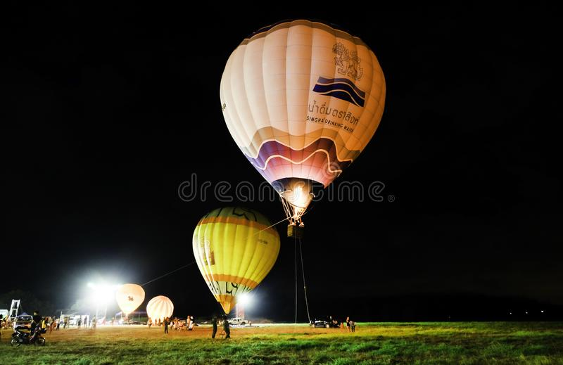 Balonowy przedstawienie, TAJLANDIA STYCZEŃ 27, 2018 zdjęcia stock