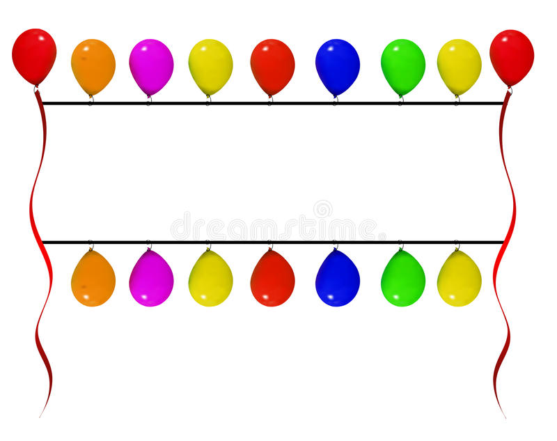balonowy sztandar royalty ilustracja