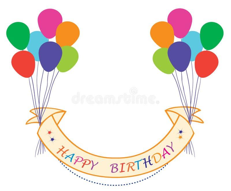 balonowy urodzinowy szczęśliwy royalty ilustracja