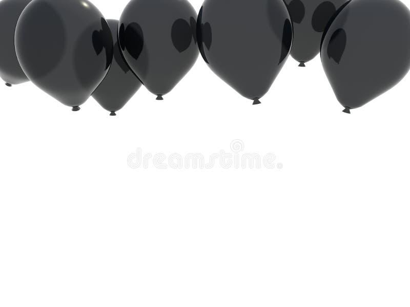 balonu czerń royalty ilustracja