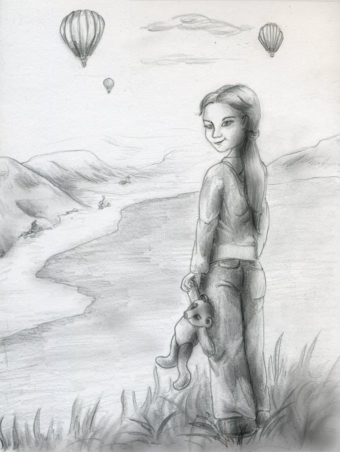 Download Balonu Nakreślenia Dopatrywanie Ilustracji - Obraz: 8311067