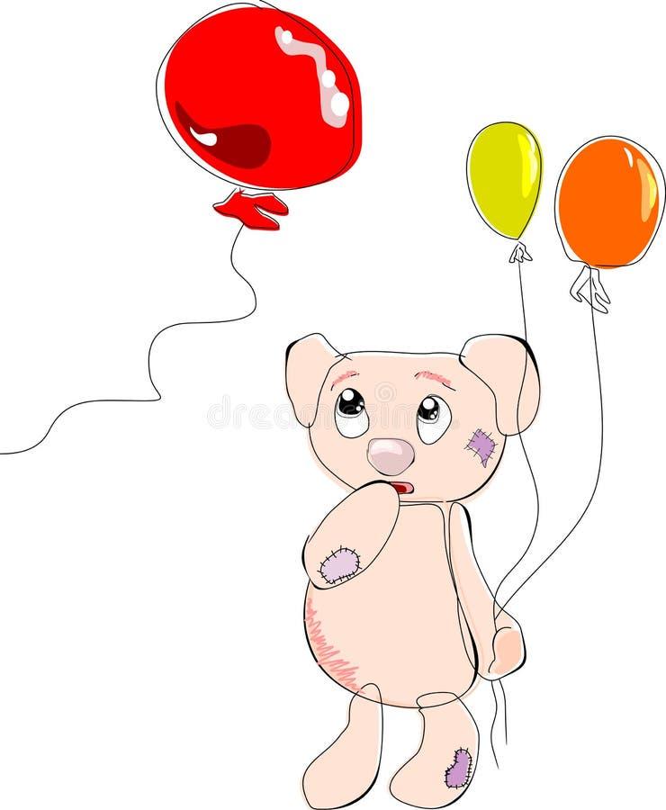 balonu niedźwiedź ilustracja wektor