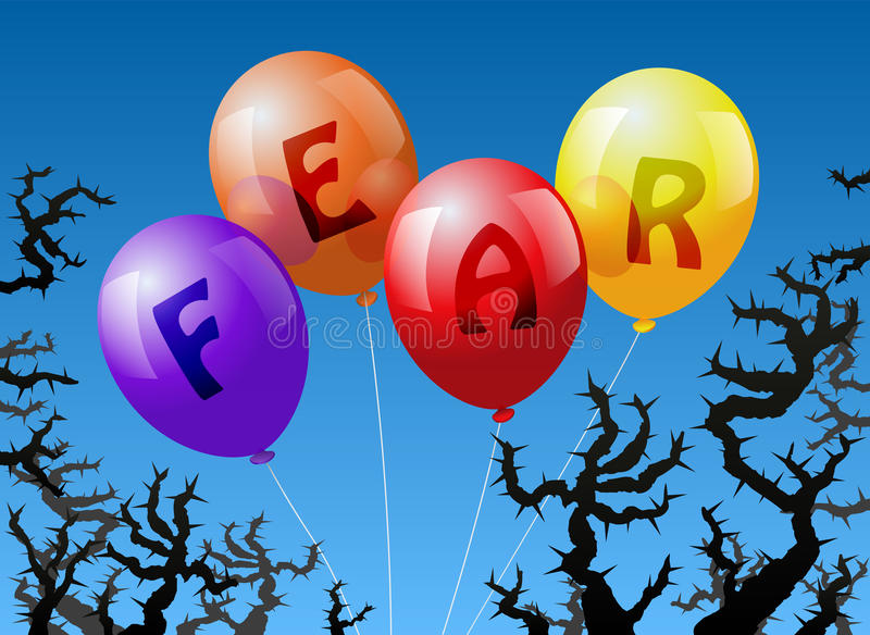 Balonu strach ilustracja wektor