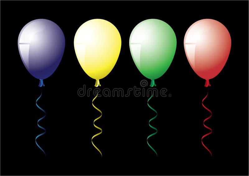 4 balony ilustracja wektor