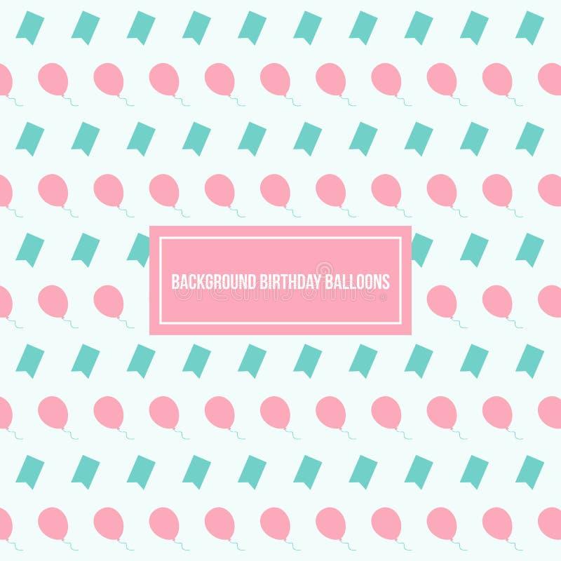 Balony Deseniują Wektorowego tło szablon zdjęcia stock