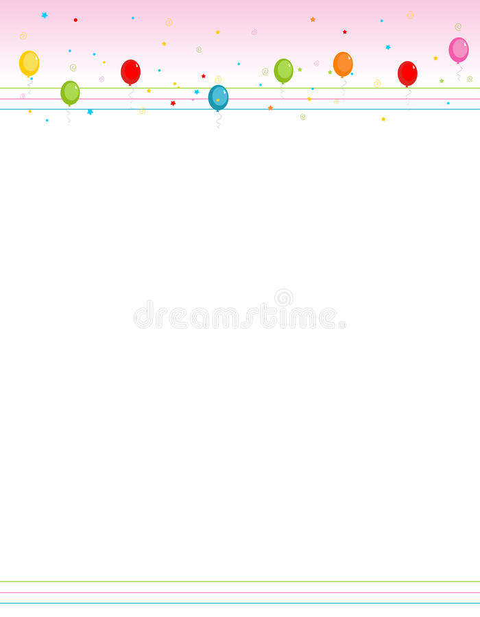 balony graniczą ramy kolorowego przyjęcia ilustracji
