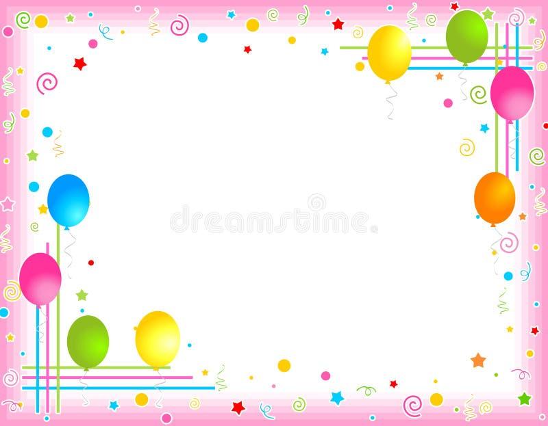 balony graniczą ramy kolorowego przyjęcia royalty ilustracja