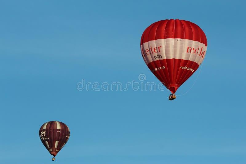 Balony nad Somerset fotografia stock