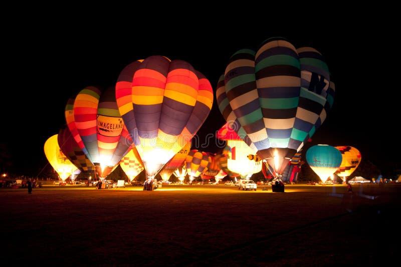 Balony nad Waikato zdjęcia stock
