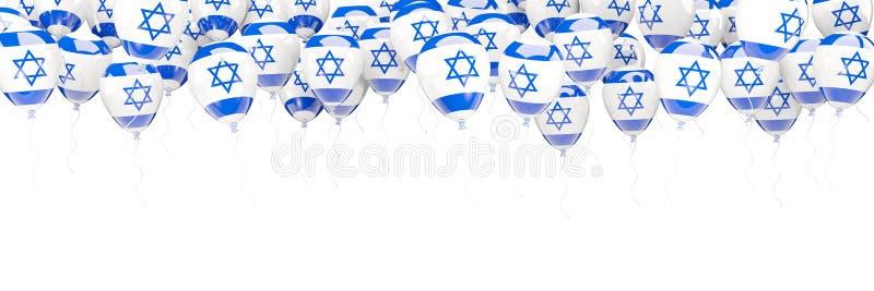 Balony obramiają z flaga Israel ilustracji