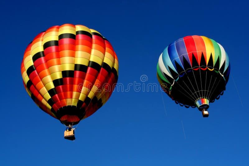 balony powietrza dwie gorące zdjęcia stock
