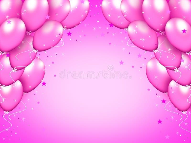 Balony purpurowe royalty ilustracja
