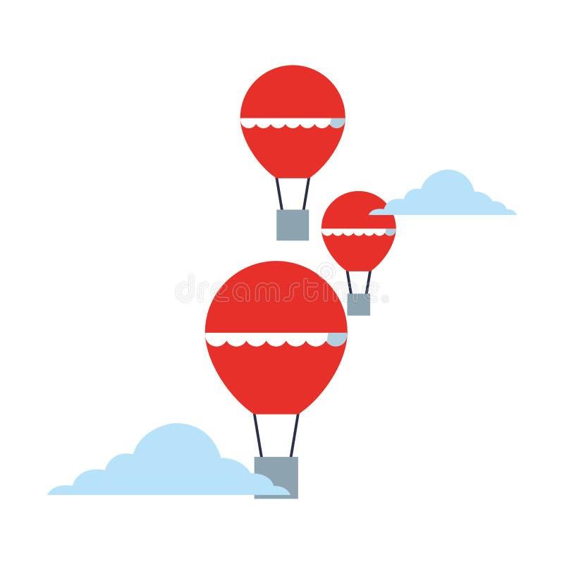 Balony wietrzą gorącego latanie royalty ilustracja