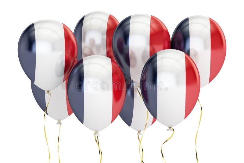 Balony z flaga Francja, holyday pojęcie świadczenia 3 d royalty ilustracja