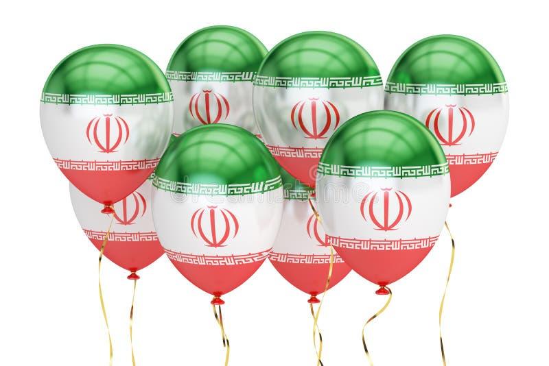 Balony z flaga Iran, wakacyjny pojęcie świadczenia 3 d royalty ilustracja