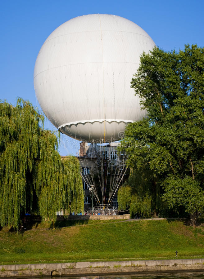 baloon大白色 库存照片