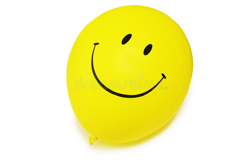 baloon查出的红色微笑白色 库存图片