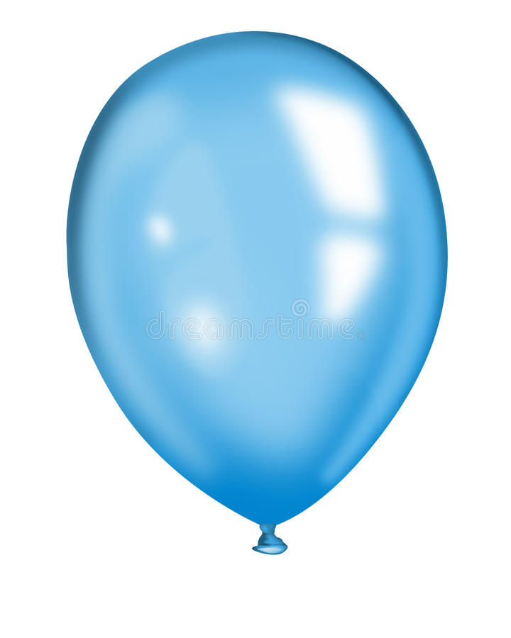 Baloon голубого воздуха иллюстрация вектора