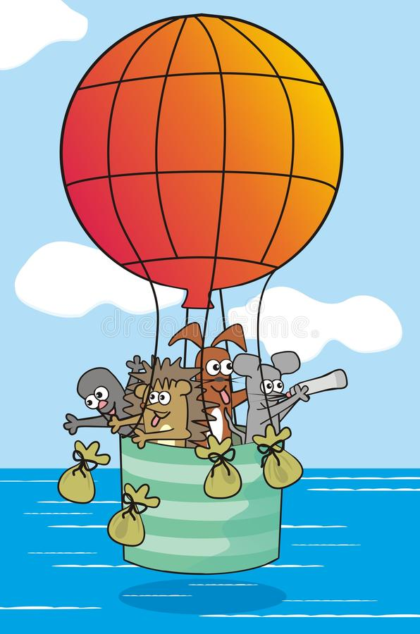 Download Baloon-animals stock illustration. Image of airship, card - 32353032