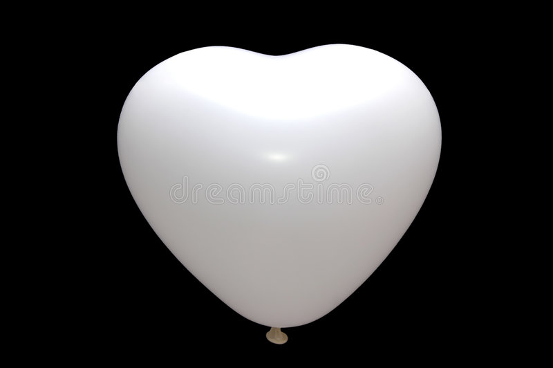 Baloon branco isolado ilustração stock