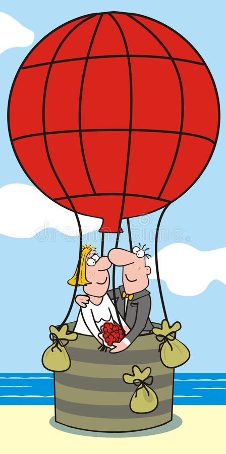 Download Baloon-bride and groom stock vector. Image of humorous - 32899184