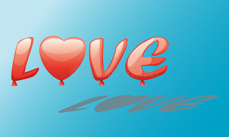 Baloon del amor ilustración del vector
