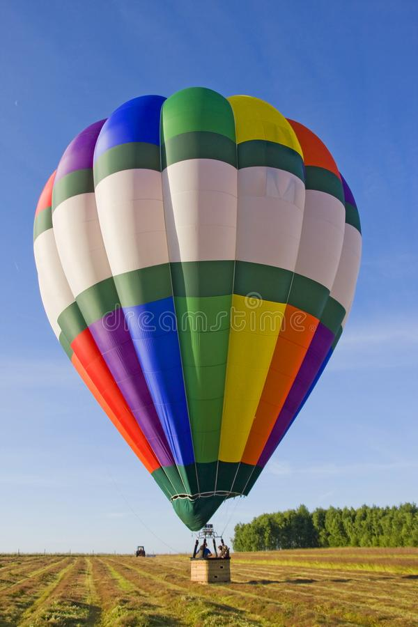 Baloon för varm luft i Amboise - Frankrike royaltyfria foton