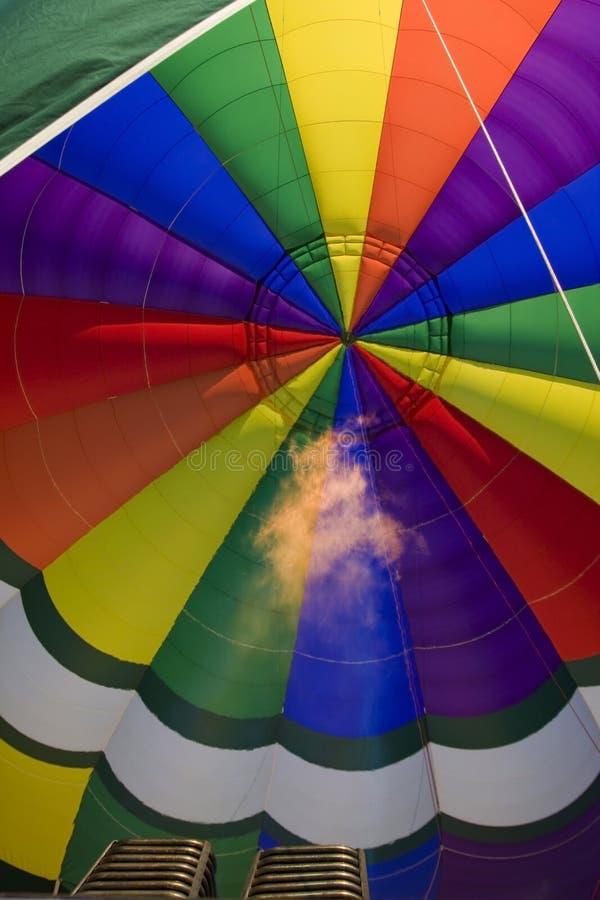 Baloon för varm luft i Amboise - Frankrike fotografering för bildbyråer