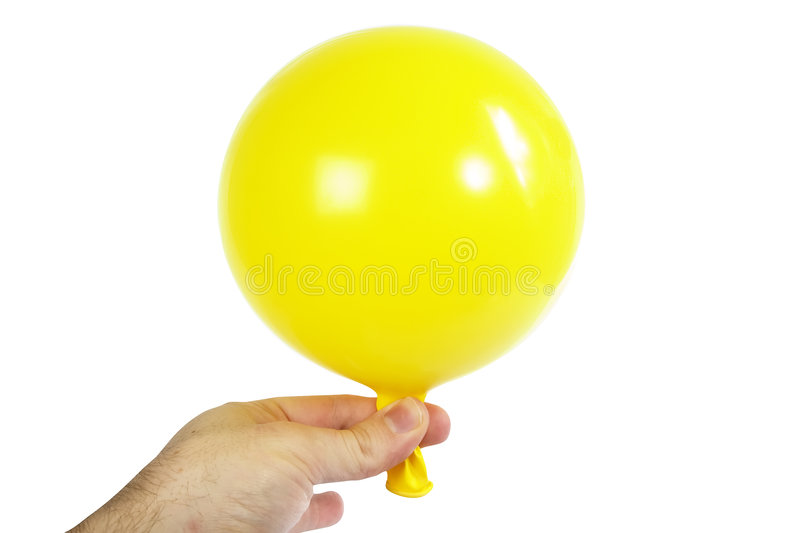 Baloon In Hand Royalty Free Stock Images