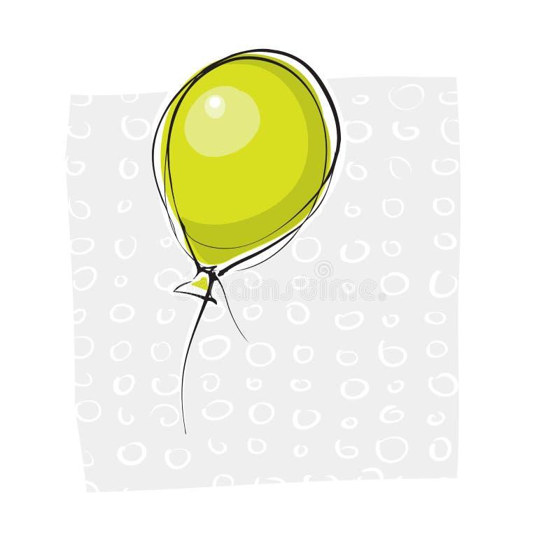 Baloon handdrawn simple ilustración del vector