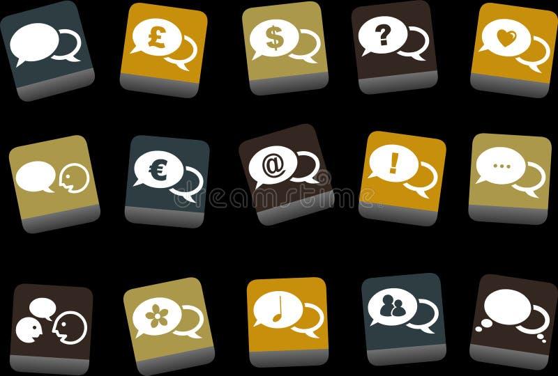 Download Baloon Icon Set stock vector. Image of speak, euro, pound - 9234382