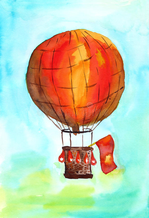 baloon rojo libre illustration