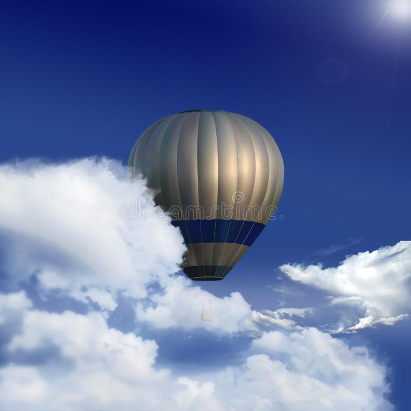 Download Baloon in the sky stock illustration. Image of heaven - 11142584