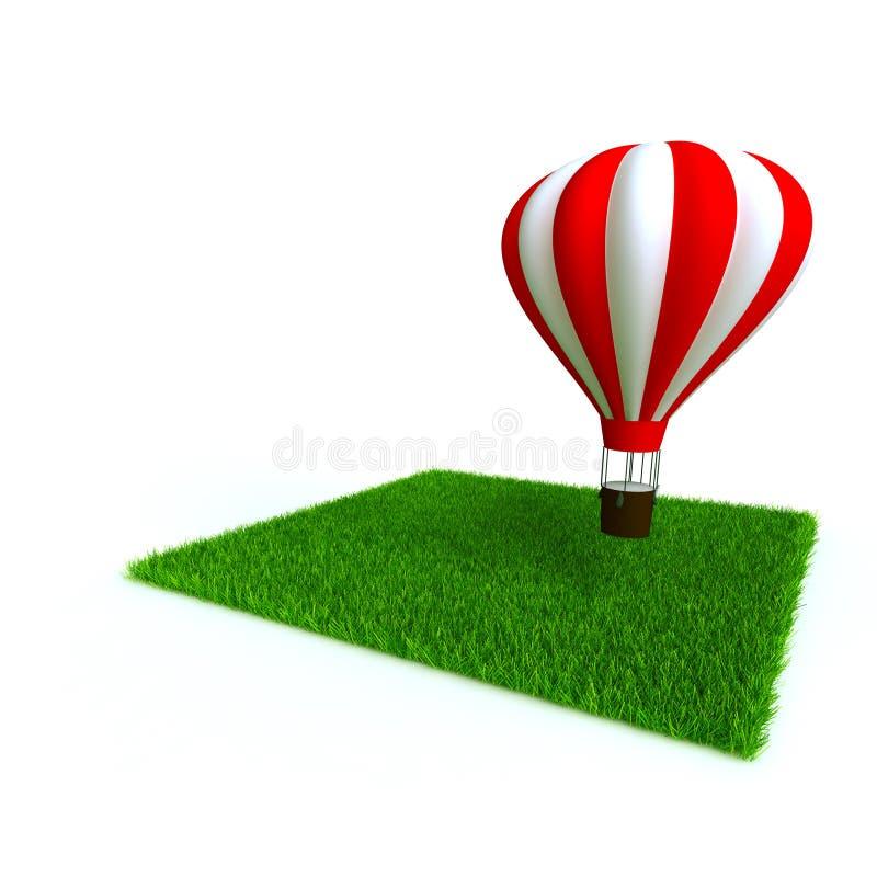 Baloon y césped stock de ilustración