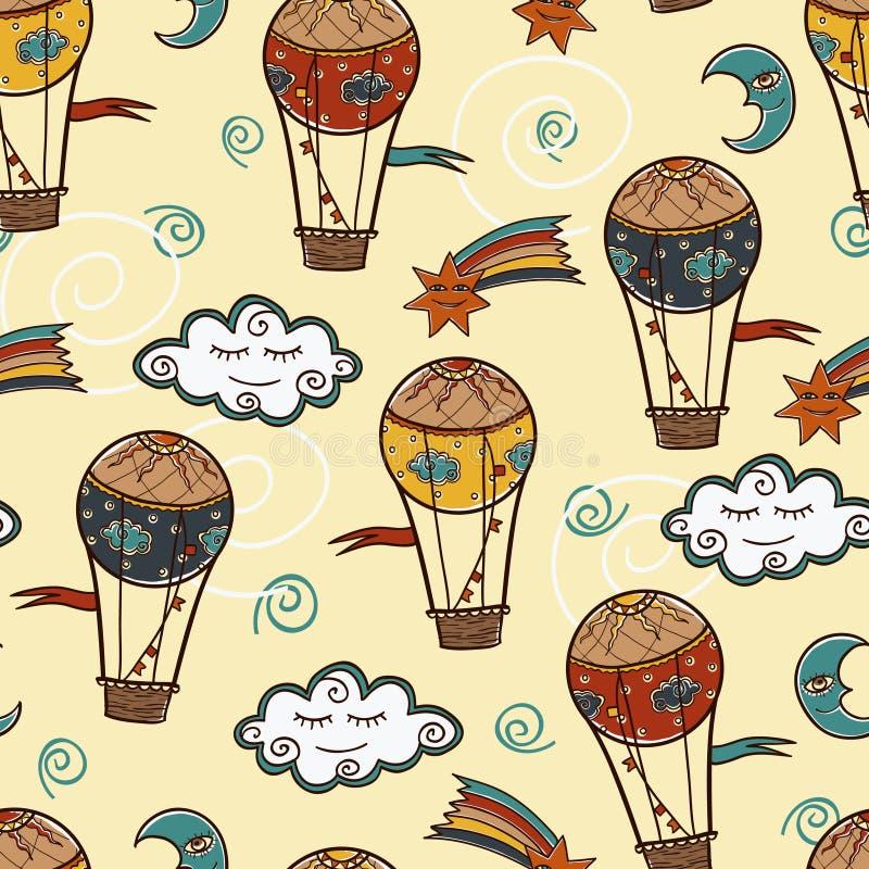 Baloonbakgrund för varm luft arkivfoton