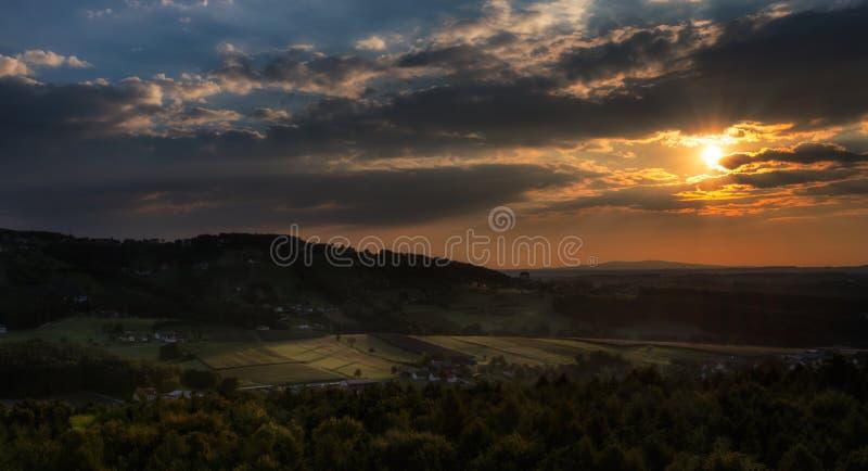 Balooning στο Styria, Αυστρία στοκ εικόνες