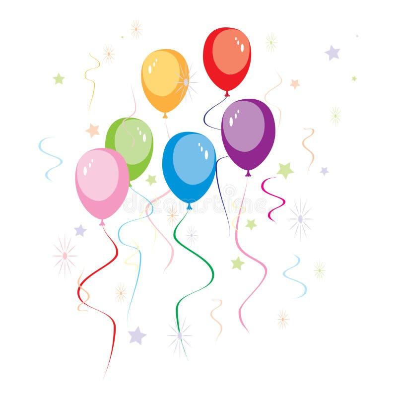 baloons当事人 向量例证
