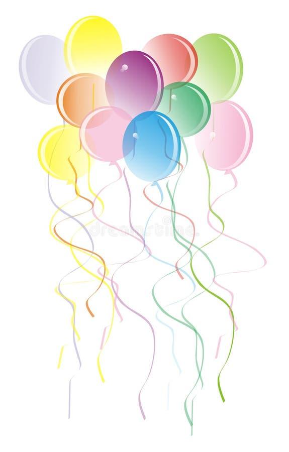 Download Baloons ευτυχής διανυσματική απεικόνιση. εικονογραφία από μπαρεττών - 2231316