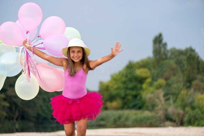 baloons κορίτσι λίγα στοκ φωτογραφία με δικαίωμα ελεύθερης χρήσης