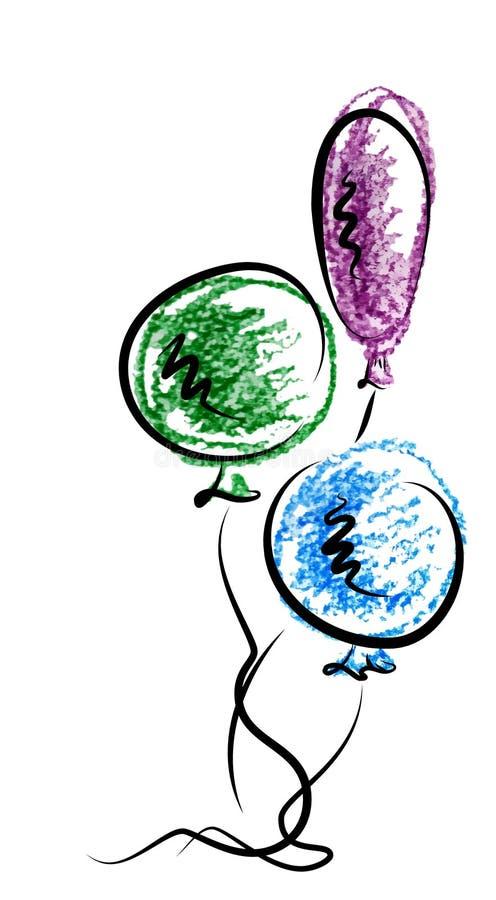 Baloons ilustração royalty free